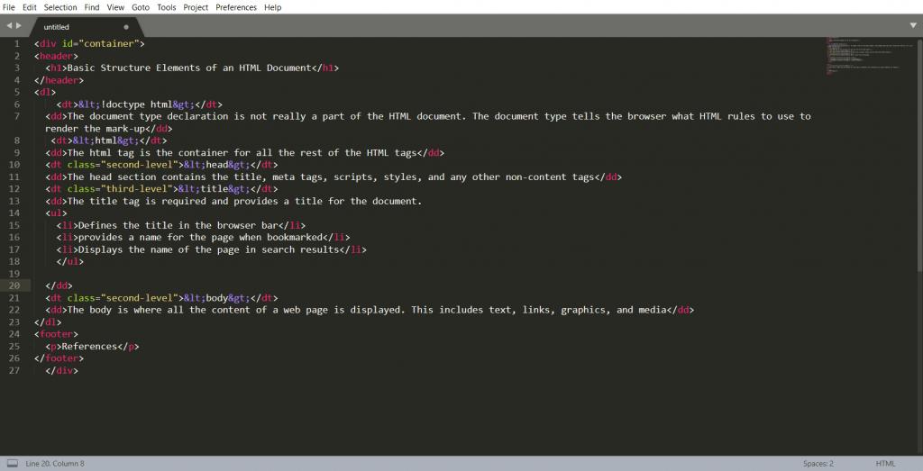 Html Kod Yapisi